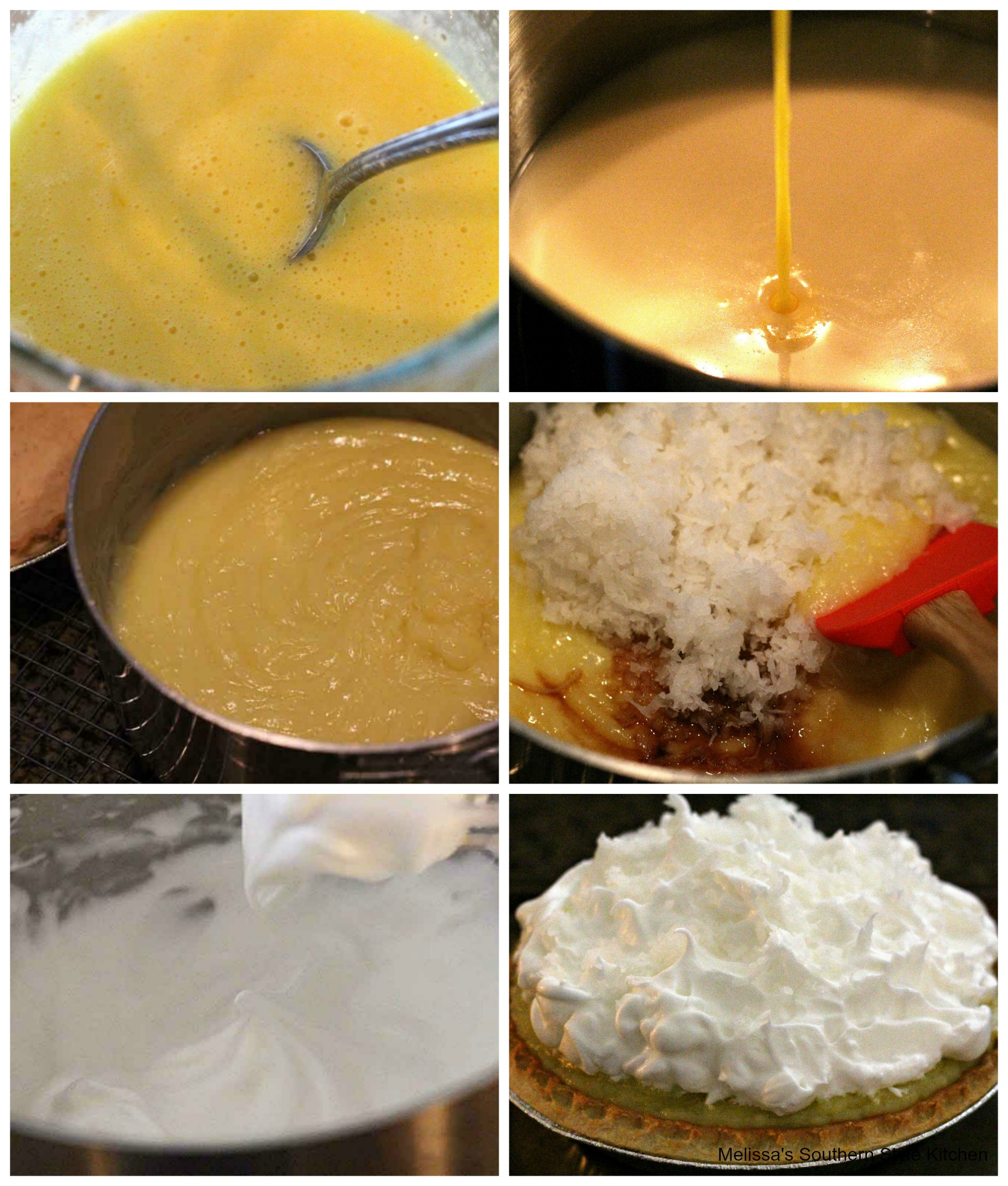 Step-by-step images preparation of pie
