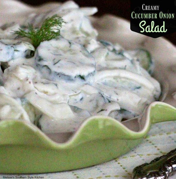 Creamy Cucumber Onion Salad