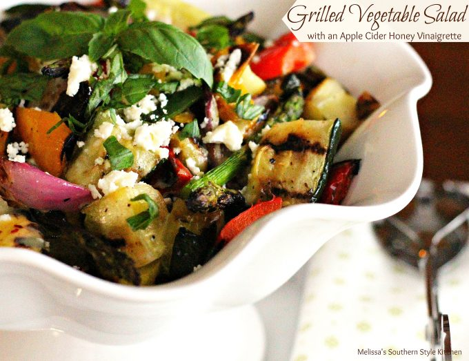 Grilled Vegetable Salad with an Apple Cider-Honey Vinaigrette