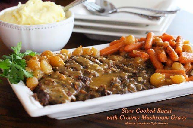 slow cooker pot roast with gravy