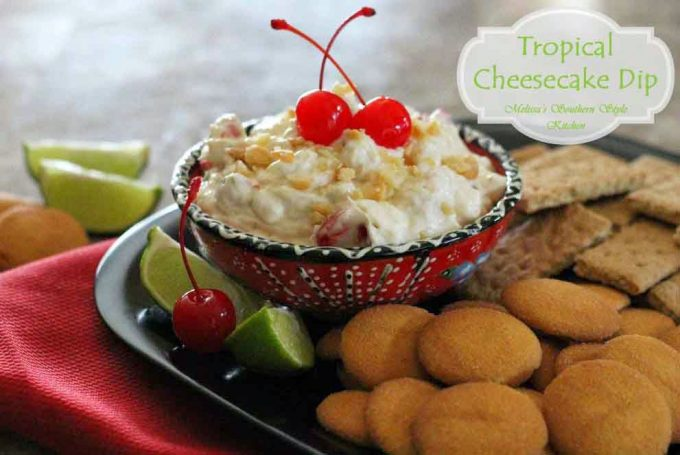 Tropical Cheesecake Dip - melissassouthernstylekitchen.com