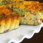 Broccoli Cheddar Bacon Quiche