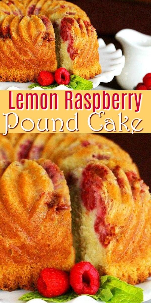 This raspberry filled lemon pound cake is a made-from-scratch delight #poundcake #lemonpoundcake #cakes #lemonrapsberry #raspberries ##southernpoundcakes #cakerecipes #desserts #dessertfoodrecipes #holidaybaking #southernfood #southernrecipes #lemons