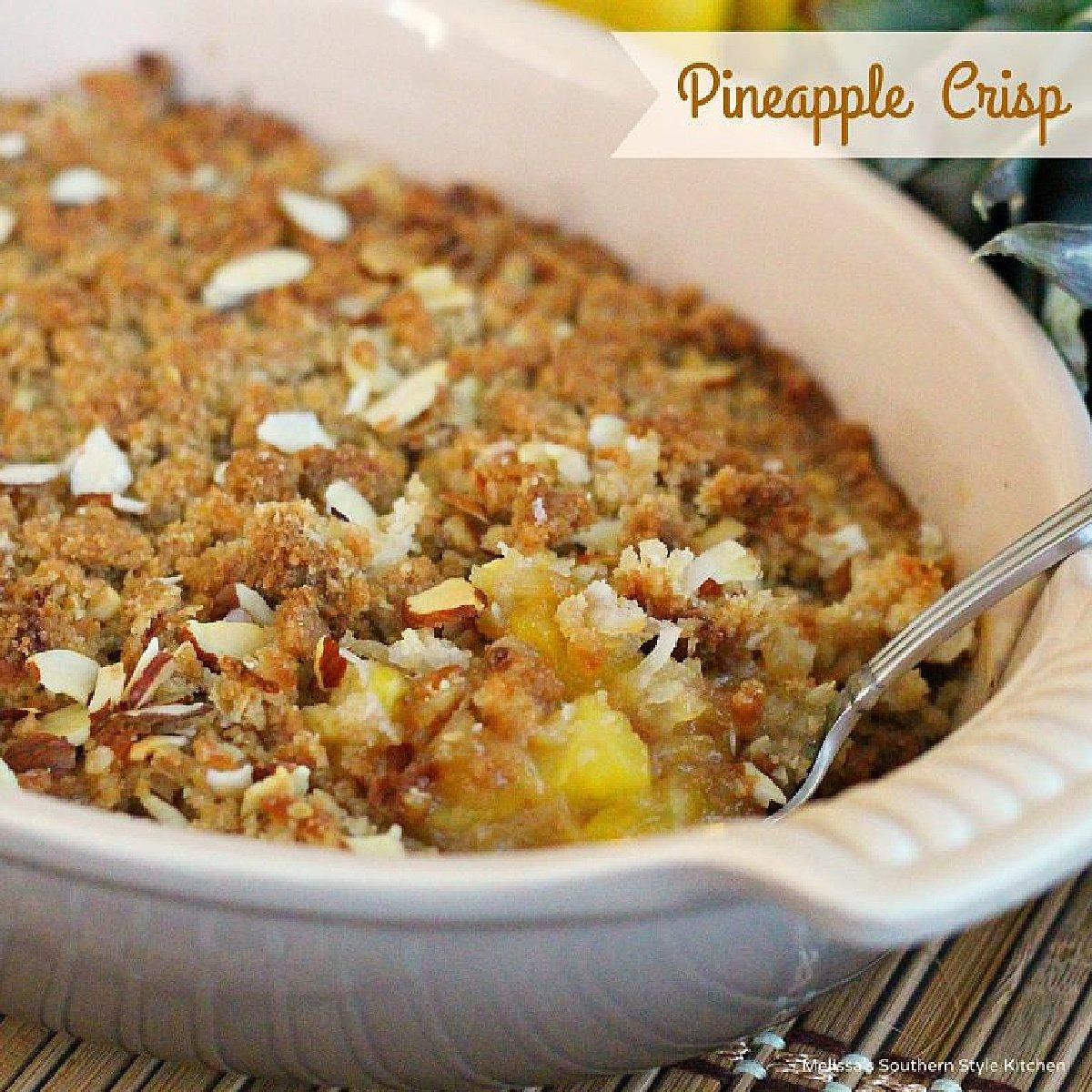 Pineapple Crisp dessert