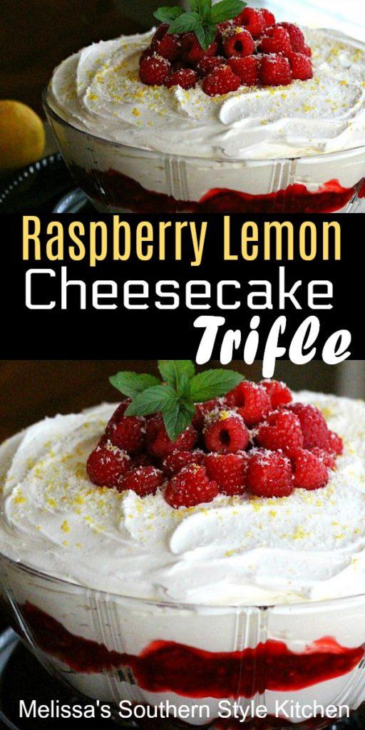 Raspberry Lemon Cheesecake Trifle