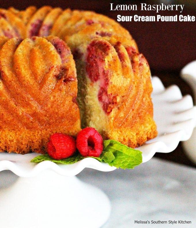 Lemon Raspberry Sour Cream Pound Cake