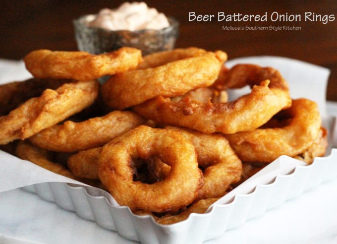 Beer Battered Onion Rings - melissassouthernstylekitchen.com