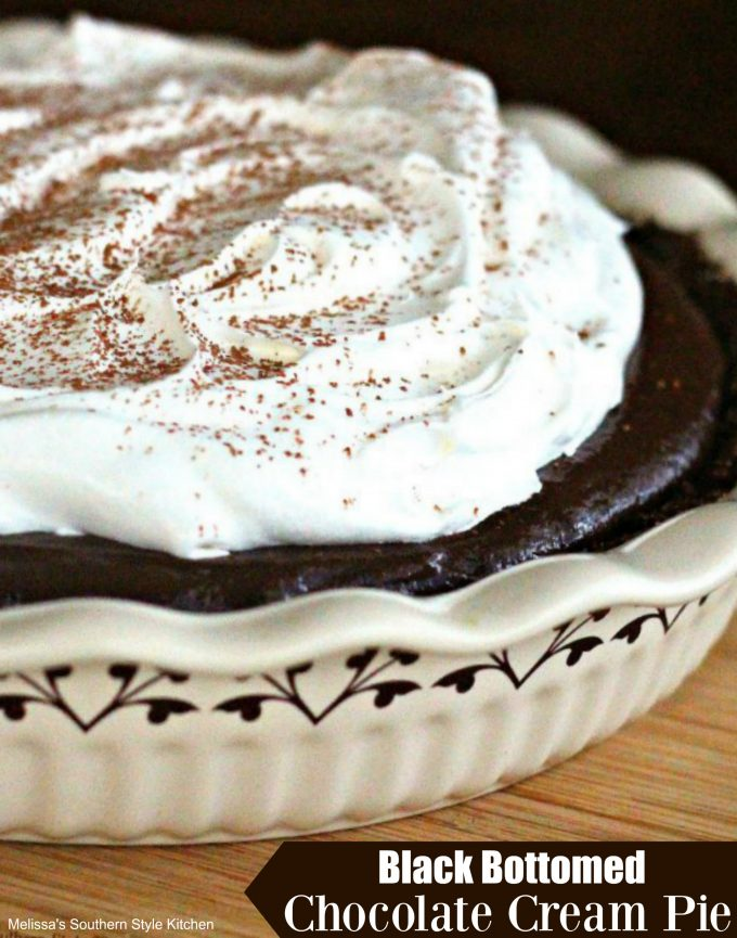 Black Bottomed Chocolate Cream Pie