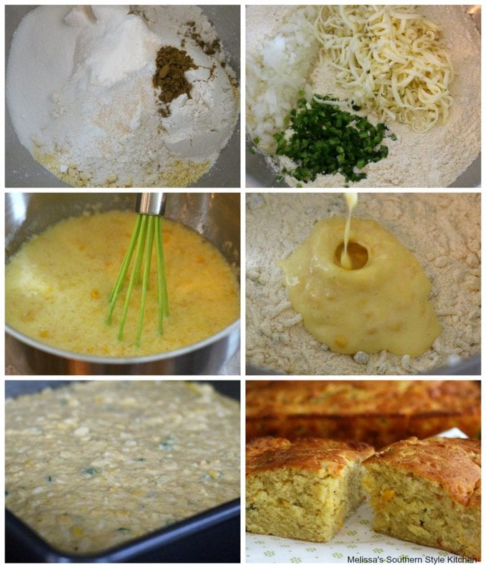 Step by step pictures of preparation of Jalapeno Pepper-Jack Cornbread