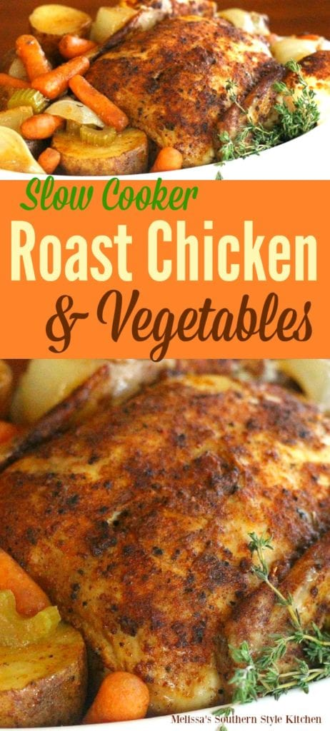 Slow Cooker Roast Chicken nand Vegetables
