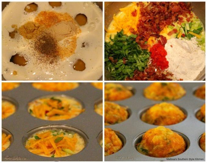 ingredients to make egg muffins