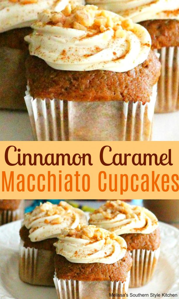 Cinnamon Caramel Macchiato Cupcakes With Cream Cheese Frosting