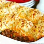 recipe for Beef Pot Pie with Cheddar Onion Biscuits