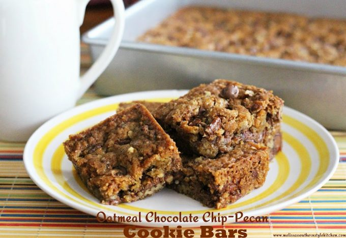 Oatmeal Chocolate Chip-Pecan Cookie Bars ...