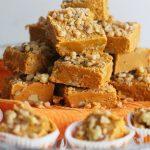 Salted Toffee Pumpkin Spice Fudge