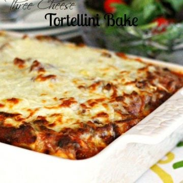 Three Cheese Tortellini Bake