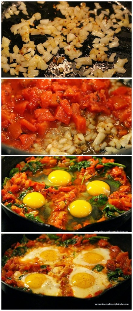 skillet-eggs-spinach-fire-roasted-tomatoes