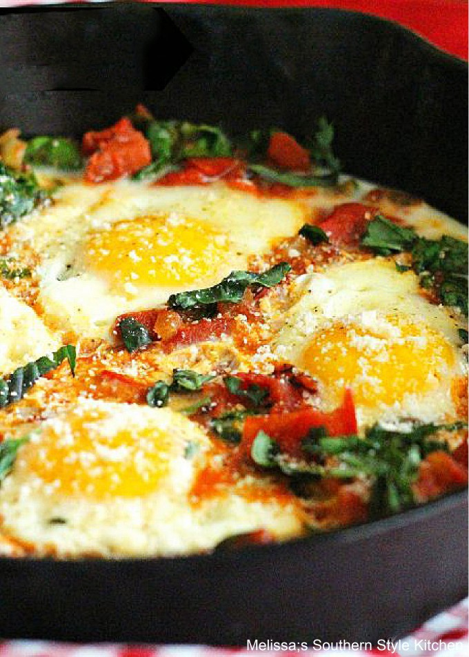 skillet-eggs-spinach-fire-roasted-tomatoes-recipe