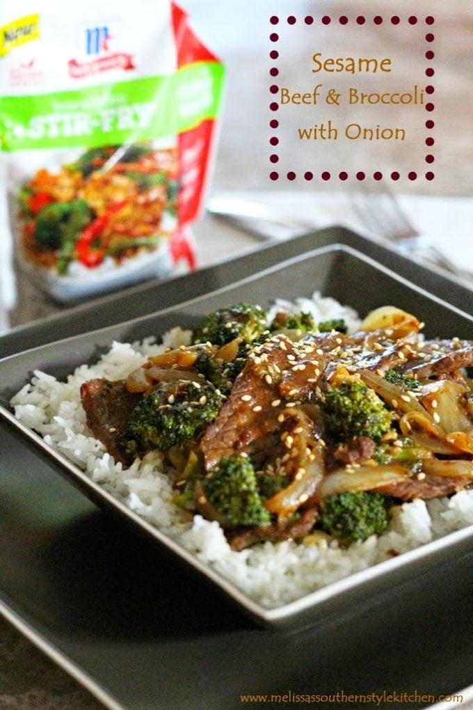 Sesame Beef & Broccoli