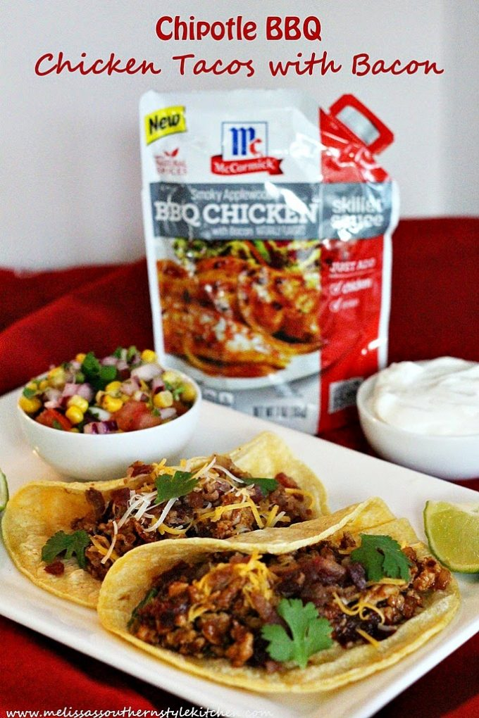 Chipotle BBQ Chicken Tacos