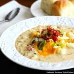 Cheddar Cauliflower Soup with Bacon
