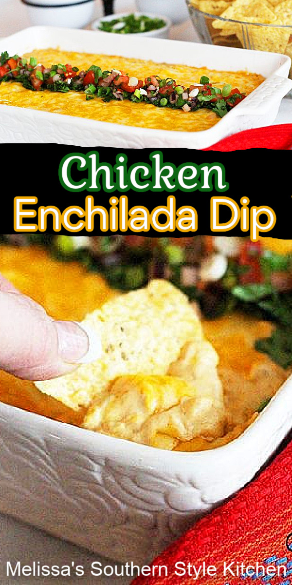 This Chicken Enchilada Dip is packed with fiesta flavors along with chicken and cheese turning this dip into a heavenly dipping sensation #chickendip #chickenenchiladadip #chickenenchiladas #easychickenrecipes #appetizers #diprecipes #chicken #mexicandiprecipes