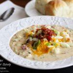 Cheddar Cauliflower Soup with Bacon