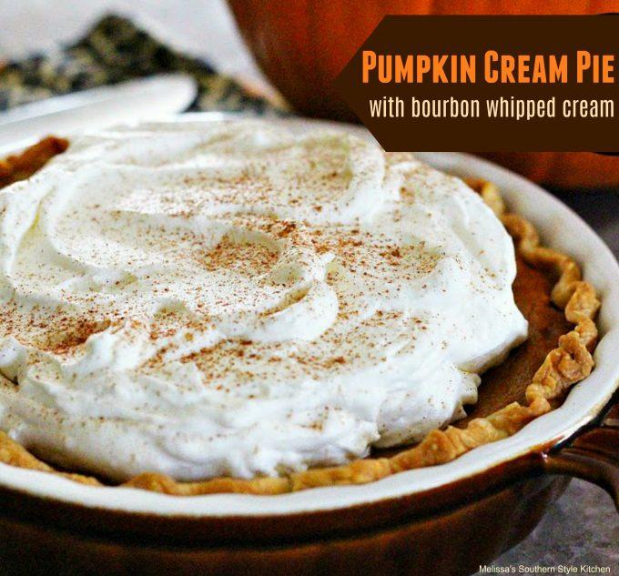 Pumpkin Cream Pie With Bourbon Whipped Cream ...