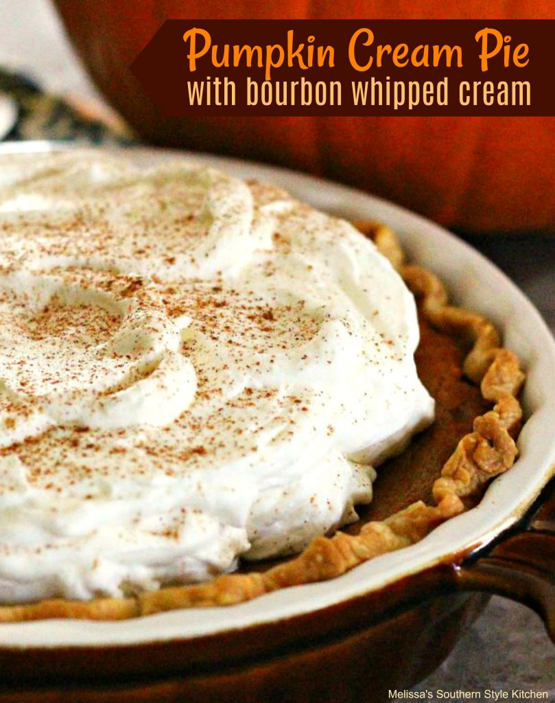 Pumpkin Cream Pie With Bourbon Whipped Cream ...