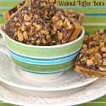 Salted Chocolate Walnut Toffee Bars