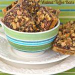 Salted Chocolate Walnut Toffee Bars