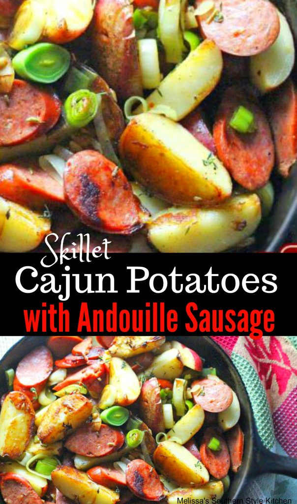 Skillet Cajun Potatoes With Andouille Sausage