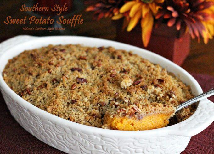Southern Style Sweet Potato Souffle - melissassouthernstylekitchen.com