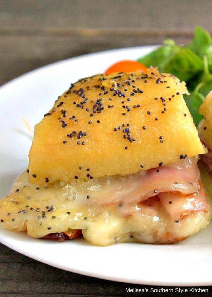 ham and swiss poppy seed rolls recipe