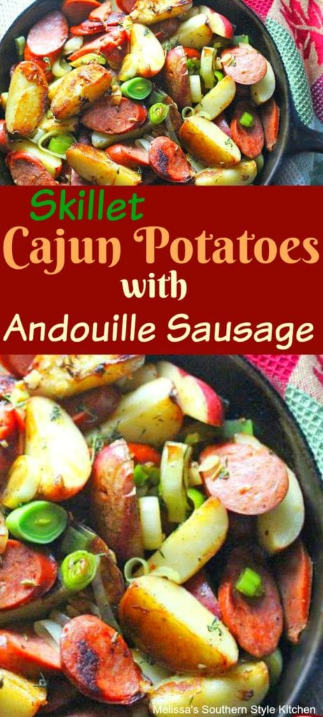 Skillet Cajun Potatoes With Andouille Sausage