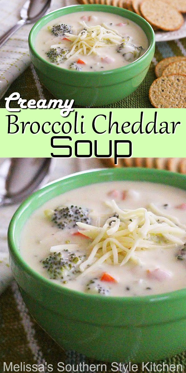 White Cheddar cheese is spectacular in this Creamy Broccoli Cheddar Soup #broccolicheddarsoup #broccolicheesesoup #broccoli #cheesesoup #souprecipes #easysouprecipes #broccoli #dinnerideas #dinner #lunchideas #southernrecipes #southernfood #cheddarcheese #melissassouthernstylekitchen