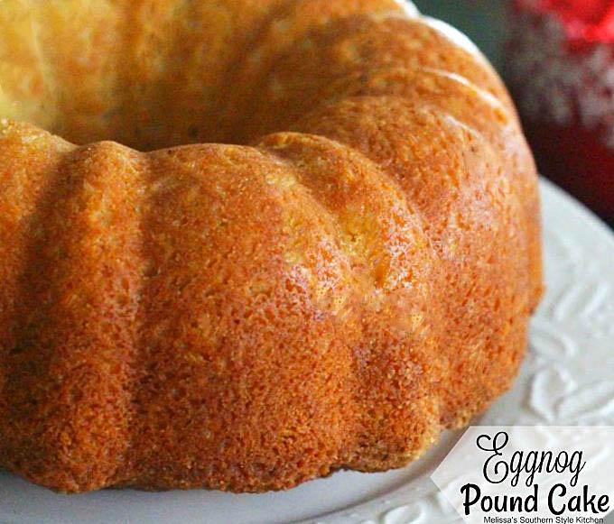 baked Eggnog Pound Cake
