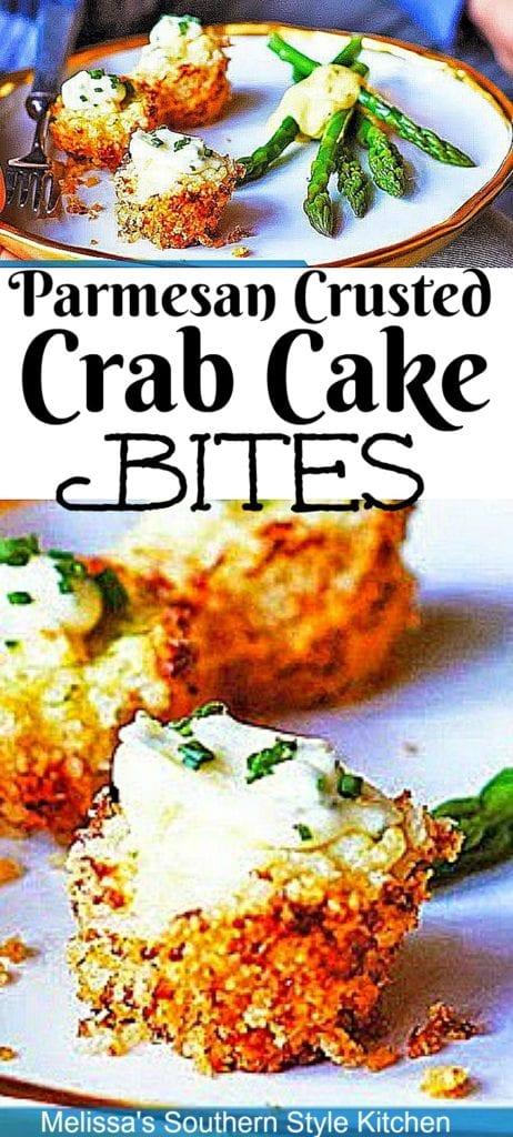 Parmesan Crusted Crab Cake Bites