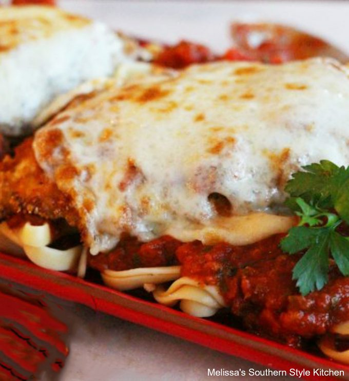 Single serving chicken Parmesan