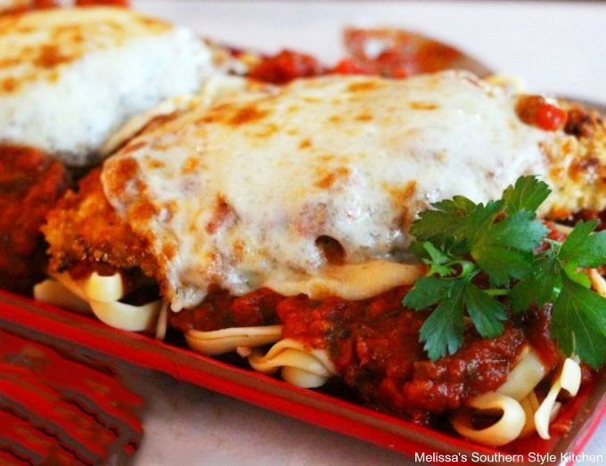 Gooey cheesy Saucy Chicken Parmesan