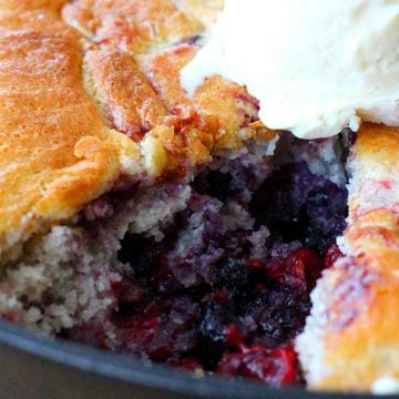 Recipe For Triple Berry Skillet Cobbler