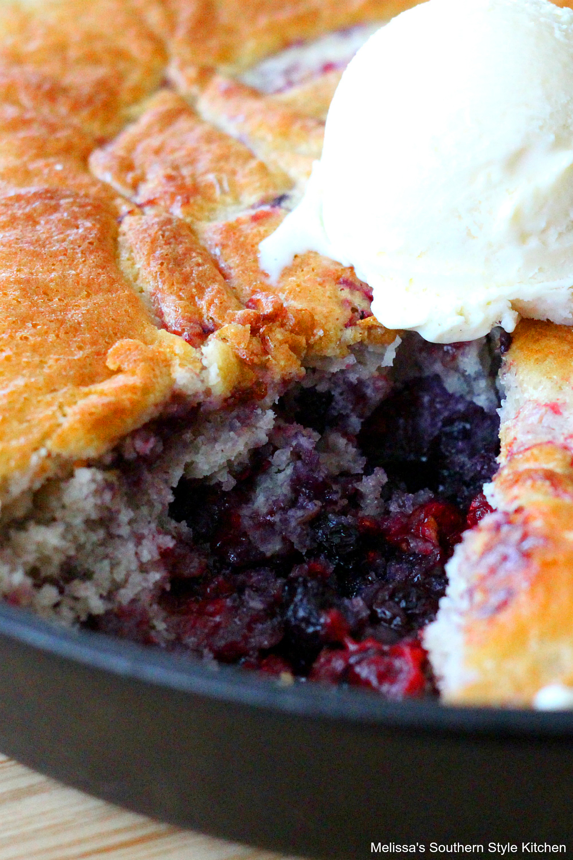 Recipe For Triple Berry Skillet Cobbler
