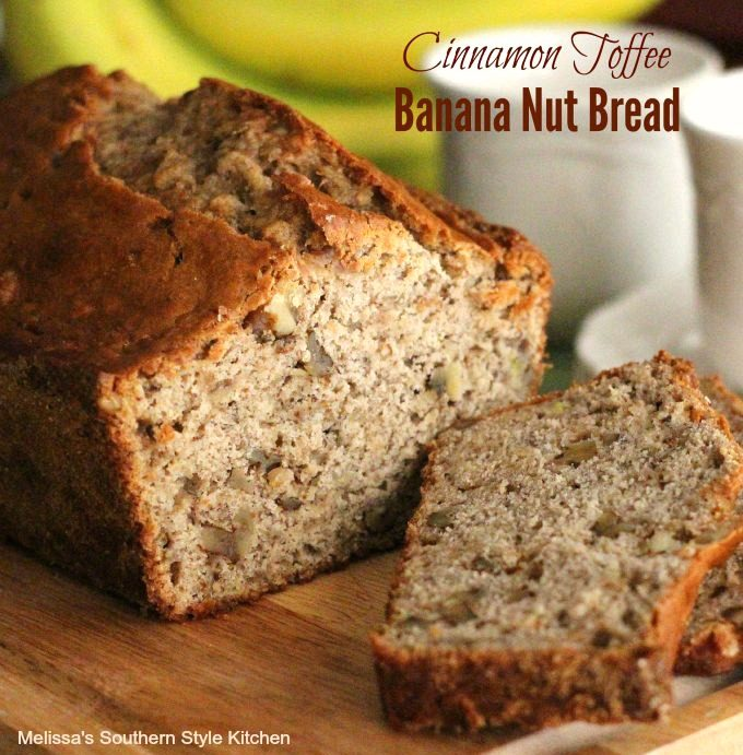 Cinnamon Toffee Banana Nut Bread