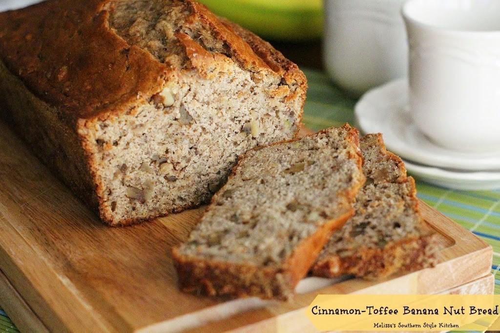 Cinnamon Toffee Banana Nut Bread