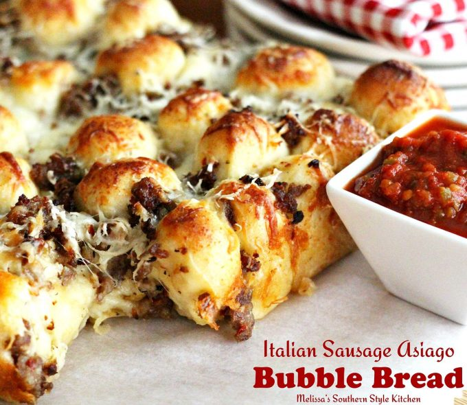Italian Sausage Asiago Bubble Bread