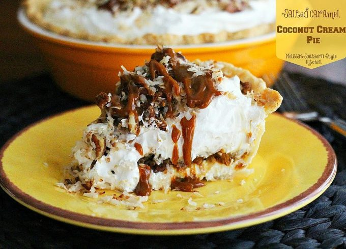 Salted Caramel Coconut Cream Pie