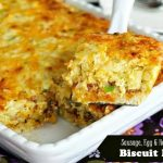 Sausage Egg and Hash Brown Biscuit Bake Recipe