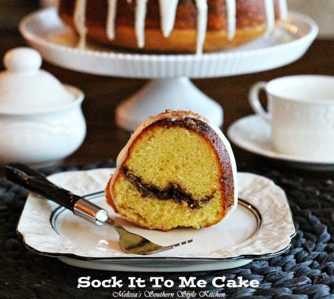 A Potluch Classic Sock It To Me Cake