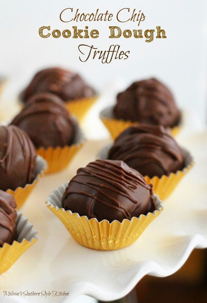 chocolate chips cookie dough truffles