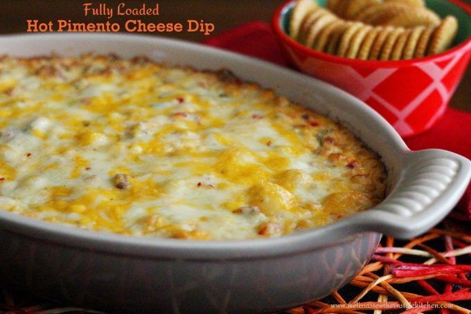Fully Loaded Hot Pimento Cheese Dip - melissassouthernstylekitchen.com
